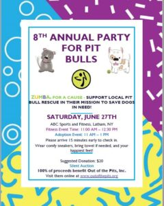 8th Annual Party for Pit Bulls invitation
