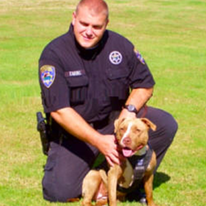 Shaka, Law Enforcement dog with her officer