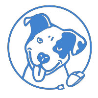 Pit bull rescue central logo links to website